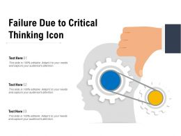 Failure Due To Critical Thinking Icon