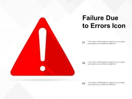 Failure Due To Errors Icon