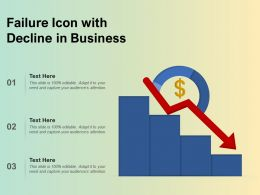 Failure Icon With Decline In Business