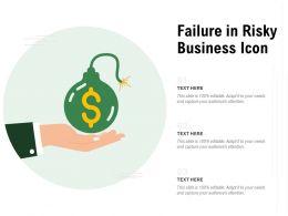 Failure In Risky Business Icon