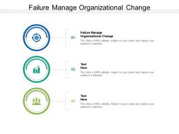 Failure Manage Organizational Change Ppt Powerpoint Presentation Infographics Slides Cpb