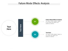 Failure Mode Effects Analysis Ppt Powerpoint Presentation File Structure Cpb