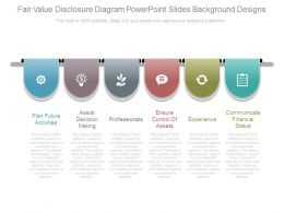 Fair Value Disclosure Diagram Powerpoint Slides Background Designs