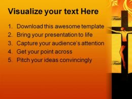 Faith Christ Religion PowerPoint Template 0610  Presentation Themes and Graphics Slide02
