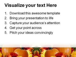 Fall Border Thanks Giving Nature PowerPoint Template 1010  Presentation Themes and Graphics Slide03