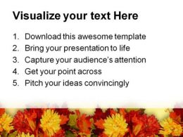 Fall Leaves Beauty PowerPoint Template 0610  Presentation Themes and Graphics Slide03