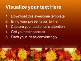 Fall Leaves Beauty PowerPoint Template 0610  Presentation Themes and Graphics Slide02