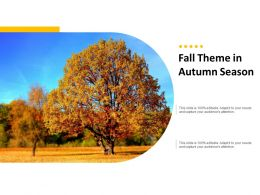 Fall Theme In Autumn Season