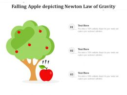 Falling Apple Depicting Newton Law Of Gravity