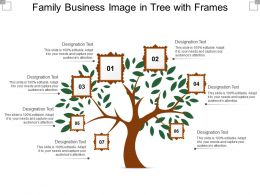 Family Business Image In Tree With Frames
