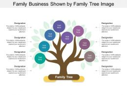 Family Business Shown By Family Tree Image