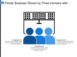 Family Business Shown By Three Humans With Designation