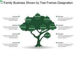 Family Business Shown By Tree Frames Designation
