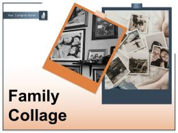 Family Collage Photographs Pictures Frames Album Several Depicting
