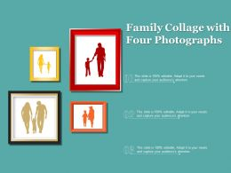 Family Collage With Four Photographs