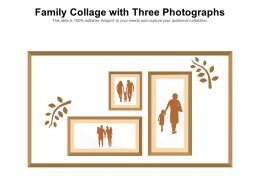 Family Collage With Three Photographs