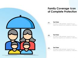 Family Coverage Icon Of Complete Protection