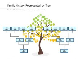 Family History Represented By Tree