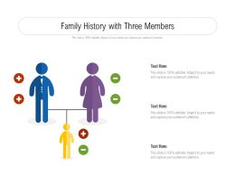 Family History With Three Members