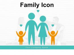 Family Icon Affection Standing Together Television Generation Different