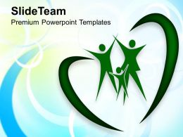 Family In Heart Shape Abstract Background Powerpoint Templates Ppt Themes And Graphics 0213