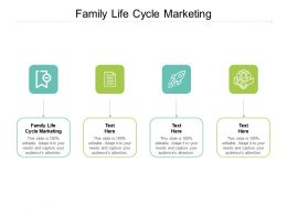 Family Life Cycle Marketing Ppt Powerpoint Presentation Slides Infographics Cpb