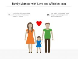 Family Member With Love And Affection Icon