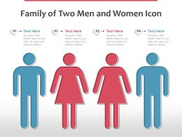Family Of Two Men And Women Icon
