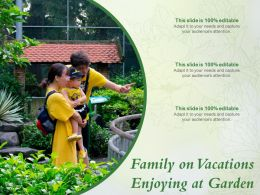 Family On Vacations Enjoying At Garden
