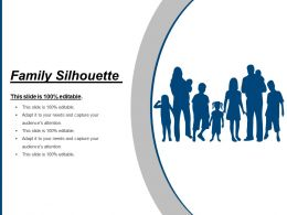 Family Silhouette Ppt Slide Templates