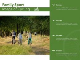 Family Sport Image Of Cycling