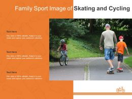 Family Sport Image Of Skating And Cycling