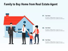 Family To Buy Home From Real Estate Agent