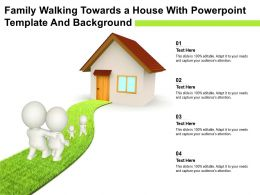 Family Walking Towards A House With Powerpoint Template And Background