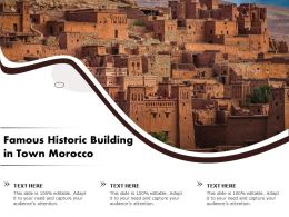 Famous Historic Building In Town Morocco