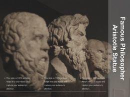 Famous Philosopher Aristotle Statue