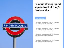 Famous Underground Sign In Front Of Kings Cross Station