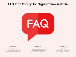 FAQ Icon Pop Up For Organization Website