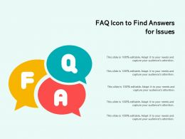 FAQ Icon To Find Answers For Issues