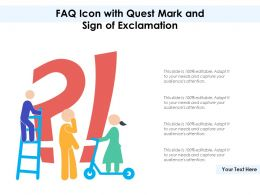 FAQ Icon With Quest Mark And Sign Of Exclamation