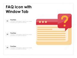 FAQ Icon With Window Tab