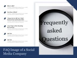 FAQ Image Of A Social Media Company