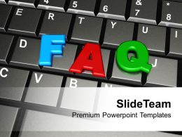 Faq Word By Colorful Letters On Keyboard Powerpoint Templates Ppt Themes And Graphics 0113