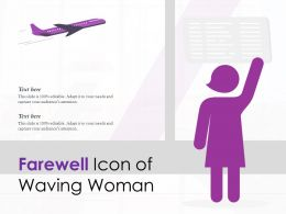 Farewell Icon Of Waving Woman
