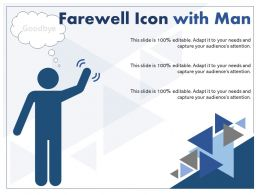 Farewell Icon With Man