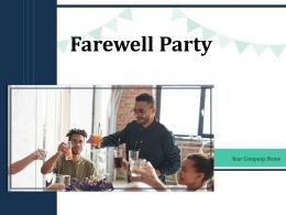 Farewell Party Employee Invitation Planning Graduated Discussions