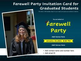 Farewell Party Invitation Card For Graduated Students