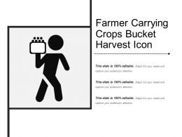 Farmer Carrying Crops Bucket Harvest Icon