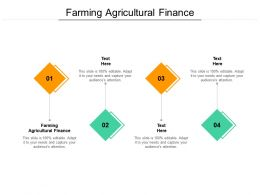 Farming Agricultural Finance Ppt Powerpoint Presentation Slides Design Templates Cpb