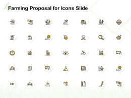 Farming Proposal For Icons Slide Ppt Powerpoint Presentation Model Layout